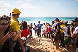 October 20, 2018 - Peniche, Portugal - The surfer from French Polynesia,..Michel Bourez, enter for his first heat of the day. (Credit Image: © Henrique Casinhas/NurPhoto via ZUMA Press)