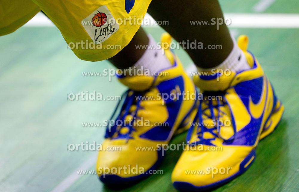 Legs of Sofoklis Schortsanitis of Maccabi during basketball match between KK Krka and Maccabi Electra Tel-Aviv in 1st Round of ABA League, on October 1, 2011, in Arena Leon Stukelj, Slovenia.  (Photo by Vid Ponikvar / Sportida)