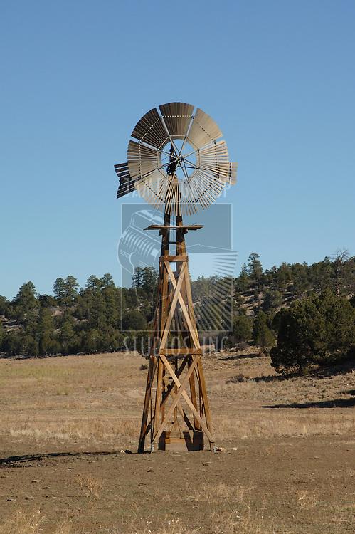 Windmill water pump on the prairie