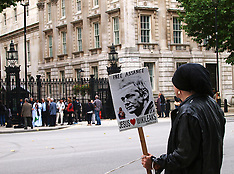 OCT 07 2013 Jullian Assange release demonstration