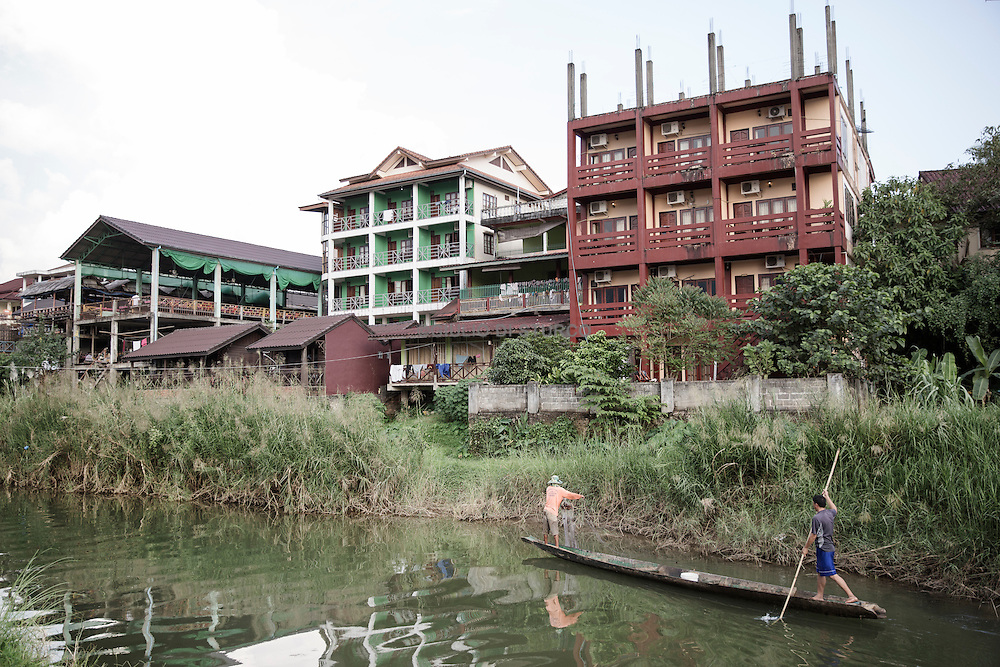 LAOS, NOVEMBER 2015<br />Vang Vieng, until recently was sort of a Disneyland of drugs, sex and adrenaline for backpackers, today has become a holiday resort for families Korean and Chinese or neo trendsetters who worship the trendy new baguette bars.@Giulio Di Sturco