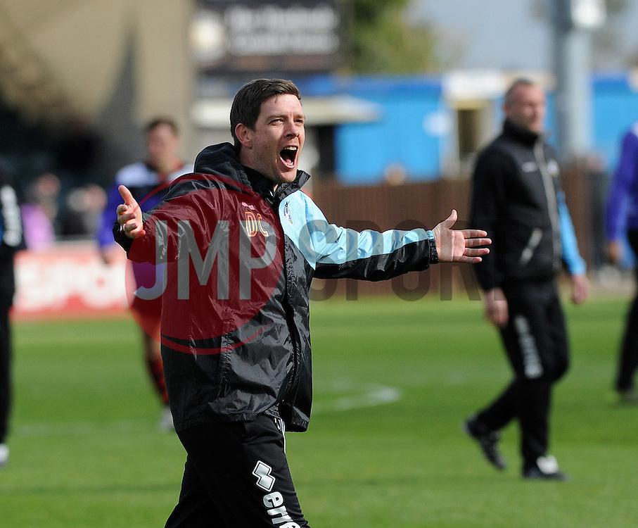 Bristol Rovers Manager Darrell Clarke enjoys the win - Mandatory by-line: Neil Brookman/JMP - 23/04/2016 - FOOTBALL - Memorial Stadium - Bristol, England - Bristol Rovers v Exeter City - Sky Bet League Two