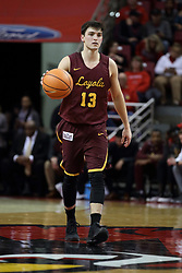 10 January 2018:  Clayton Custer during a College mens basketball game between the Loyola Chicago Ramblers and Illinois State Redbirds in Redbird Arena, Normal IL