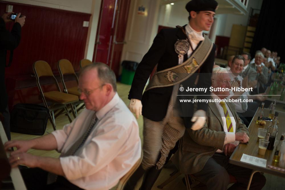 The Braw Lads Breakfast, at Volunteer Hall, during the Gala Braw Lads Gathering, with Braw Lad Daniel Whitehead, in Galashiels, Scotland, Saturday 29th June 2013.<br /> N55&deg;36.906'<br /> W2&deg;48.461'