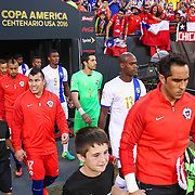 Chile and Panama walk onto the field for a Copa America Centenario Group D match between the Chile and Panama Tuesday, June. 14, 2016 at Lincoln Financial Field in Philadelphia, PA.