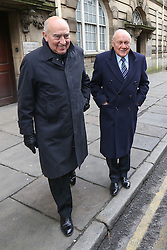 © Licensed to London News Pictures . 01/03/2013 . Preston , UK . STUART HALL (right) leaves Preston Crown Court today (1st March 2013) . The broadcaster is accused of rape and sexual assault . Photo credit : Joel Goodman/LNP
