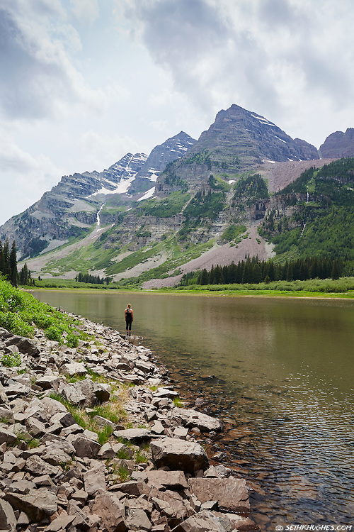 Crater Lake, Maroon Bells-Snowmass Wilderness, Colorado