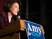 05 DECEMBER 2019 - DES MOINES, IOWA: US Senator AMY KLOBUCHAR (D-MN) speaks during a campaign event in Des Moines. Sen. Klobuchar is campaigning to be the Democratic nominee for the US Presidency. Iowa holds the first selection event of the Presidential election cycle. The Iowa caucuses are Feb. 3, 2020.               PHOTO BY JACK KURTZ