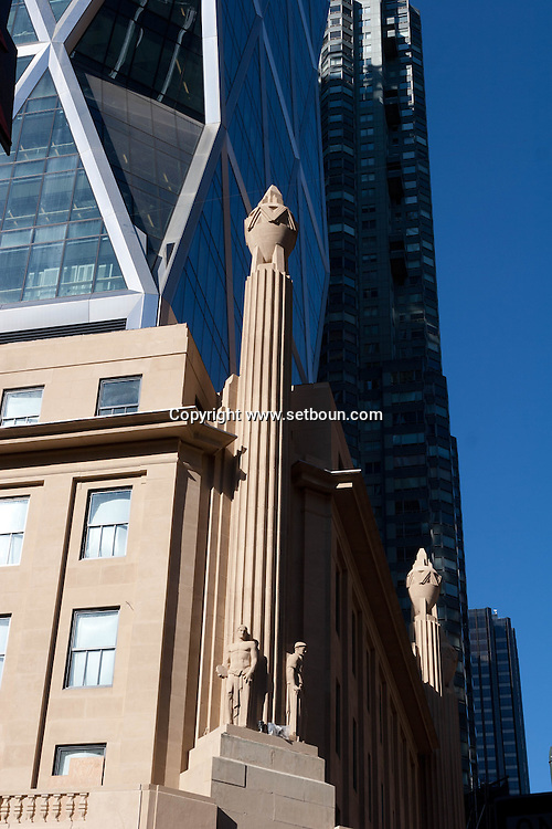 New york - Norman Foster tower over the Hearst building - art deco- on 57 st  New york