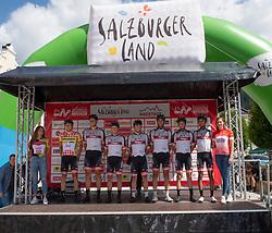 10.07.2019, Fuscher Törl, AUT, Ö-Tour, Österreich Radrundfahrt, 4. Etappe, von Radstadt nach Fuscher Törl (103,5 km), im Bild Tirol KTM Cycling Team // Tirol KTM Cycling Team during 4th stage from Radstadt to Fuscher Törl (103,5 km) of the 2019 Tour of Austria. Fuscher Törl, Austria on 2019/07/10. EXPA Pictures © 2019, PhotoCredit: EXPA/ Reinhard Eisenbauer
