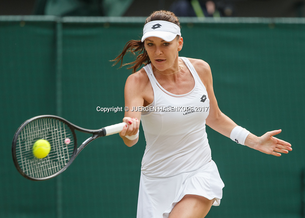 AGNIESZKA RADWANSKA (POL)<br /> <br /> Tennis - Wimbledon 2017 - Grand Slam ITF / ATP / WTA -  AELTC - London -  - Great Britain  - 8 July 2017.