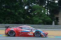 Francois Perrodo (FRA) / Emmanuel Collard (FRA) / Rui Aguas (PRT) #83 AF Corse Ferrari F458 Italia,  during Le Mans 24 Hr June 2016 at Circuit de la Sarthe, Le Mans, Pays de la Loire, France. June 15 2016. World Copyright Peter Taylor/PSP. Copy of publication required for printed pictures.  Every used picture is fee-liable. http://archive.petertaylor-photographic.co.uk