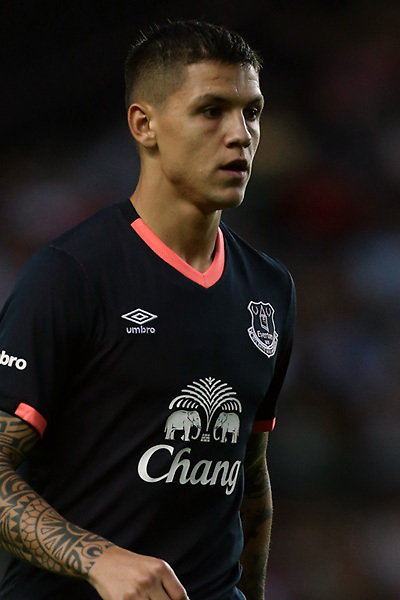 MILTON KEYNES, ENGLAND - JULY 26: Muhamed Besic celebrates his goal during the pre-season friendly match between MK Dons and Everton at Stadium mk on July 26, 2016 in Barnsley, England.  (Photo by Tony McArdle/Everton FC via Getty Images)