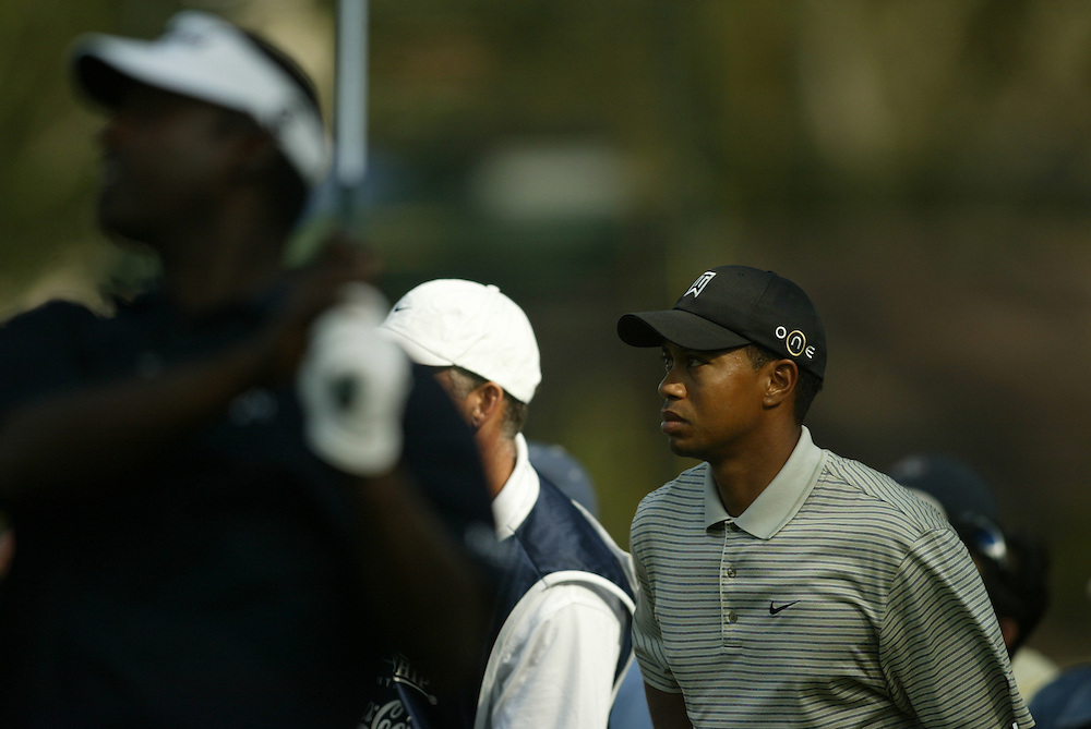 Tiger Woods.2003 Tour Championship.First Round.Champions Golf Club.Houston, TX.November 6, 2003..photograph by Darren Carroll