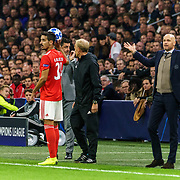 NLD/Amsterdam/20181023 - Champions Leaguewedstrijd  Ajax - SL Benfica, coaches Rui Vitoria en Erik ten Hag