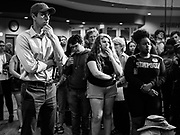06 MAY 2019 - INDIANOLA, IOWA: BETO O'ROURKE, a Texas Democrat, talks to students at Simpson College and people who from Indianola, IA, Monday. O'Rouke is campaigning in Iowa to support his candidacy to be the Democratic nominee for the US Presidency in 2020.  Iowa traditionally hosts the the first election event of the presidential election cycle. The Iowa Caucuses will be on Feb. 3, 2020.              PHOTO BY JACK KURTZ