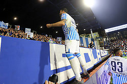 "Foto LaPresse/Filippo Rubin<br /> 16/03/2019 Ferrara (Italia)<br /> Sport Calcio<br /> Spal - Roma - Campionato di calcio Serie A 2018/2019 - Stadio ""Paolo Mazza""<br /> Nella foto: ESULTANZA GOAL SPAL ANDREA PETAGNA (SPAL)<br /> <br /> Photo LaPresse/Filippo Rubin<br /> March 16, 2019 Ferrara (Italy)<br /> Sport Soccer<br /> Spal vs Roma - Italian Football Championship League A 2018/2019 - ""Paolo Mazza"" Stadium <br /> In the pic: CELEBRATION GOAL SPAL ANDREA PETAGNA (SPAL)"