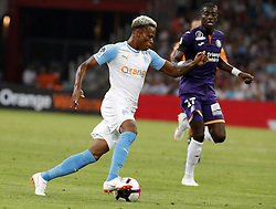 2018?8?10?.    ????????——???????????.    8?10?????????????????????????????.    ????2018-2019??????????????????????4?0??????.    ????????·????...(SP)FRNACE-PARIS-FOOTBALL-LIGUE 1-MARSEILLE VS TOULOUSE..(180810) -- MARSEILLE, Aug. 10, 2018  Bouna Sarr (L) of Marseille vies with Ibrahim Sangare of Toulouse during their match of French Ligue 1 2018-19 season 1st round in Marseille, France on Aug. 10, 2018. Marseille won 4-0 at home.  49738 (Credit Image: © Fabien Galau/Xinhua via ZUMA Wire)