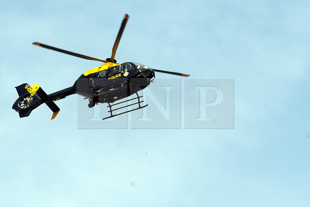 © Licensed to London News Pictures. 15/07/2013. Gravesend, UK. An police helicopter searching for a man who went missing in the water just off Gordon Promenade in Gravesend yesterday afternoon (14/07/2013). Photo credit :Grant Falvey/LNP