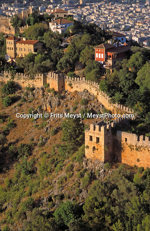 Alanya, Antalya, Turkey, 2004. High above the tourist baches lies the old walled city of a Alanya.  Many holidaymakers find their way to the Turkish riviera to enjoy the sun and Turkish hospitality. Photo by Frits Meyst/Adventure4ever.com