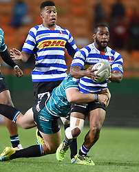 Cape Town-180921- Wastern Province centre Sergel Petersen tackled by Kyle Steyn of Tafel lager Griquas in the Currie Cup Game played at Newlands Stadium .Photographs:Phando Jikelo/African News Agency/ANA