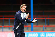 AFC Wimbledon manager Neal Ardley during the Pre-Season Friendly match between Aldershot Town and AFC Wimbledon at the EBB Stadium, Aldershot, England on 28 July 2017. Photo by Graham Hunt.