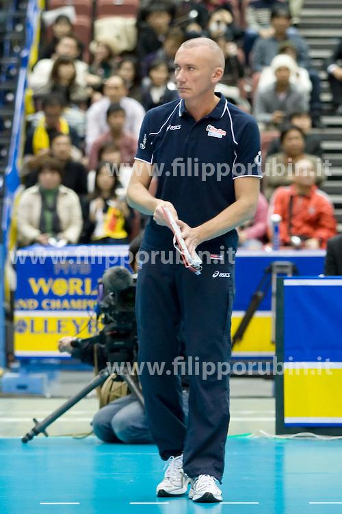MASSIMO BARBOLINI.ITALIA - BRASILE.PALLAVOLO DONNE WORLD GRAND CHAMPIONS CUP FEMMINILE 2009.FUKUOKA (JPN) 14-11-2009.FOTO GALBIATI - RUBIN