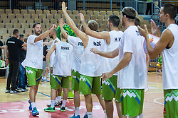 Sasa Zagorac of Slovenia during friendly basketball match between National teams of Slovenia and Ukraine at day 1 of Adecco Cup 2015, on August 21 in Koper, Slovenia. Photo by Grega Valancic / Sportida