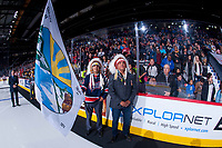 REGINA, SK - MAY 22: First Nation chiefs at the Brandt Centre on May 22, 2018 in Regina, Canada. (Photo by Marissa Baecker/CHL Images)