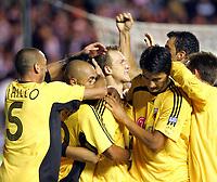 Fotball<br /> Foto: imago/Digitalsport<br /> NORWAY ONLY<br /> <br /> 09.08.2006  <br /> <br /> Torjubel AEK Athen<br /> <br /> Champions League Qualifikation 2006/2007, Hearts of Midlothian - AEK Athen 1:2