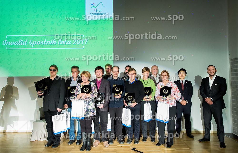 Kegljanje slepih in slabovidnih during Slovenian Disabled Sports personality of the year 2017 event, on December 6, 2017 in Austria Trend Hotel, Ljubljana, Slovenia. Photo by Vid Ponikvar / Sportida