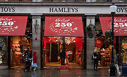 © under license to London News Pictures. 30/11/2010. Hamleys toy store in London sparks debate by offering an event featuring live penguins and reindeer in store.  Credit should read Matt Cetti-Roberts/London News Pictures