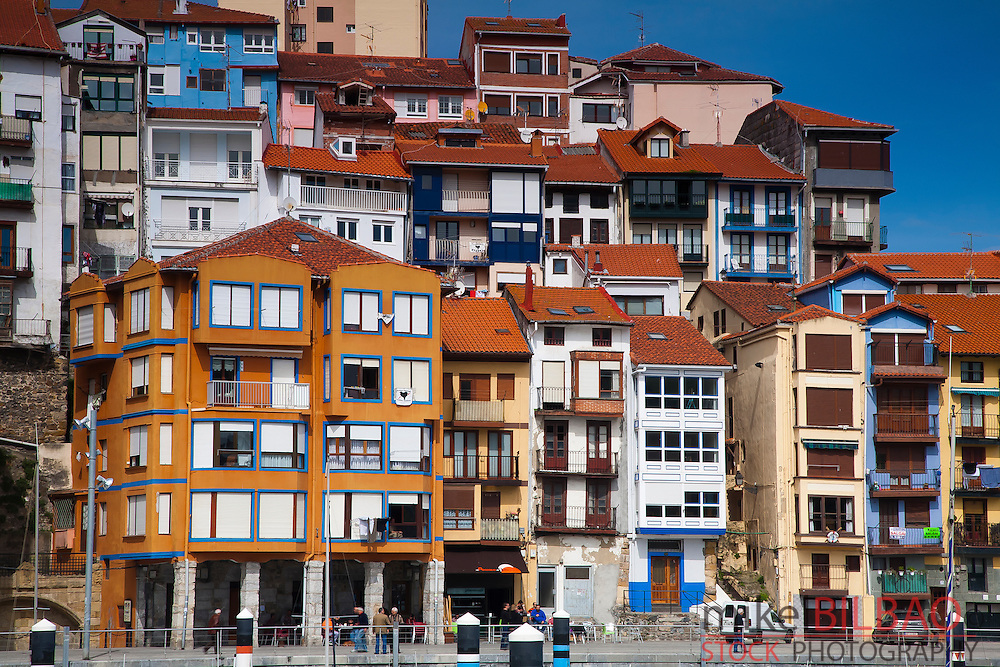 Village view.<br /> Bermeo, Biscay, Basque Country. Spain.