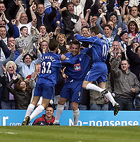 Copyright Sportsbeat. 0208 3926656<br />Picture: Henry Browne<br />Date: 11/05/2003<br />Birmingham City v West Ham United FA Barclaycard Premiership<br />Geoff Horsfield celebrates after scoring City's first goal