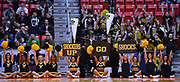 SAN DIEGO, CA - MARCH 16:  Wichita State Shockers cheerleaders perform during a first round game of the Men's NCAA Basketball Tournament against the Marshall Thundering Herd at Viejas Arena in San Diego, California. Marshall won 81-75.  (Photo by Sam Wasson)