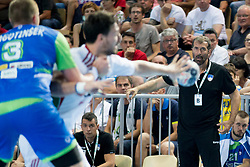 Veselin Vujovic, head coach of Slovenia during handball game between Man National Teams of Slovenia and Hungary in 2019 Man's World Championship Qualification, on June 9, 2018 in Arena Bonifika, Ljubljana, Slovenia. Photo by Urban Urbanc / Sportida