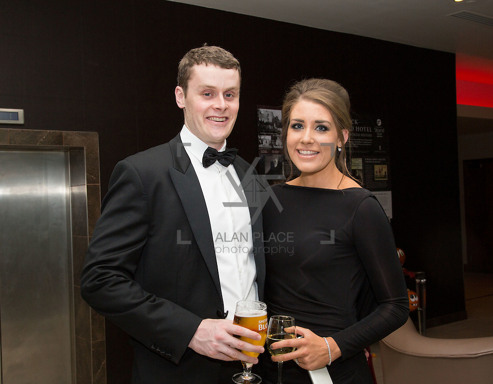 22.10.2016                 <br /> Society of Young Solicitors Annual Conference Gala Ball, Strand Hotel Limerick. Attending the event were, Simon Shinkwin and Lucy O'Neill. Picture: Alan Place