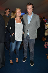 TOM PARKER BOWLES and his wife SARA at the World's Greatest Quiz Night in aid of the Quintessentially Foundation and Dimbleby Cancer Care held at the Riverside Parliament Panorama marquee at St Thomas' Hospital, Westminster Bridge Road, Londonon 15th September 2015.