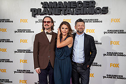 Image &copy;Licensed to i-Images Picture Agency. 16/07/2014. Madrid, Spain. (L-R) Director Matt Reeves, actress Keri Russell and Actor Andy Serkis attends the 'Dawn Of The Planets Of The Apes' premiere at Capitol Cinema. Picture by DyD Fotografos / i-Images<br /> SPAIN OUT