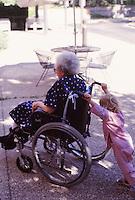 manui pushing her grandmother