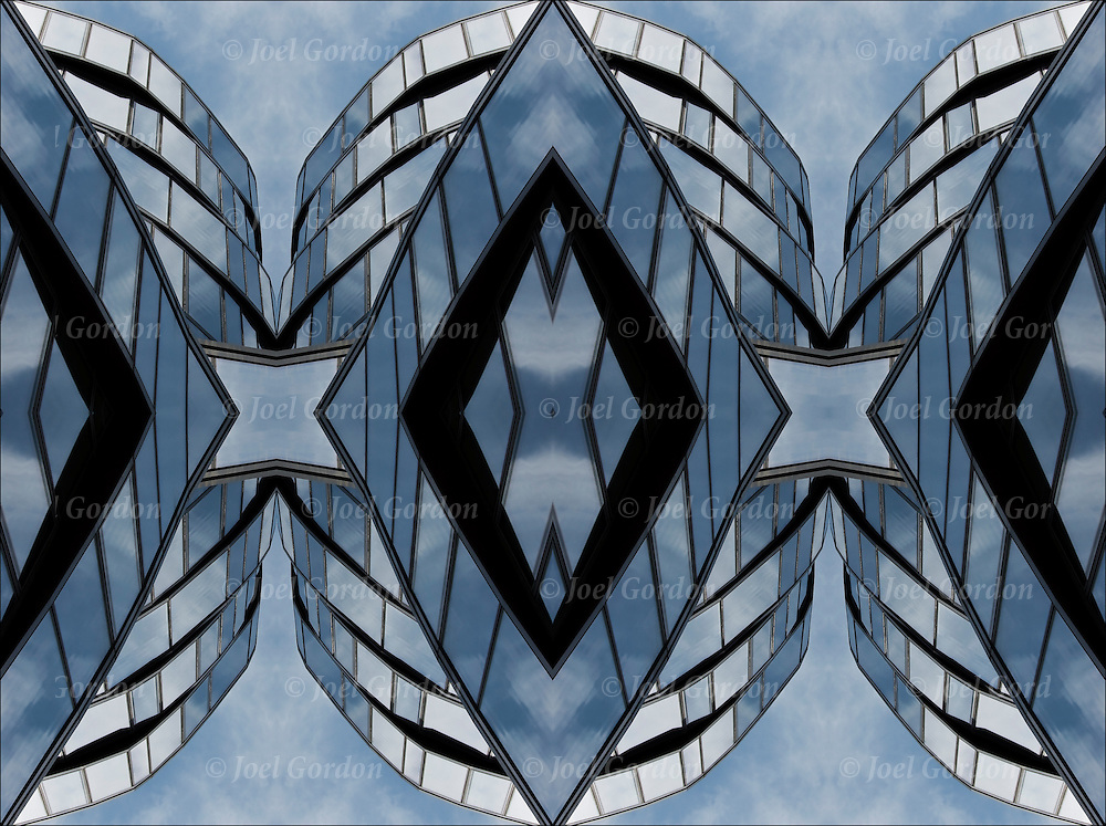 Two or more layers were used to enhance, alter, manipulate the image, creating an abstract surrealistic mirrored symmetry.<br />