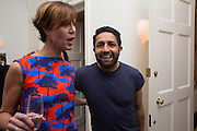VALERIA NAPOLEONE; Osman Yousefzada,, Valeria Napoleone hosts a dinner at her home in honour of Judith Hopf in cerebration of her new commission at Studio Voltaire. London. 15 October 2013