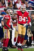 San Francisco 49ers wide receiver Kendrick Bourne (84) celebrates a reception against the New York Giants at Levi's Stadium in Santa Clara, Calif., on November 12, 2017. (Stan Olszewski/Special to S.F. Examiner)