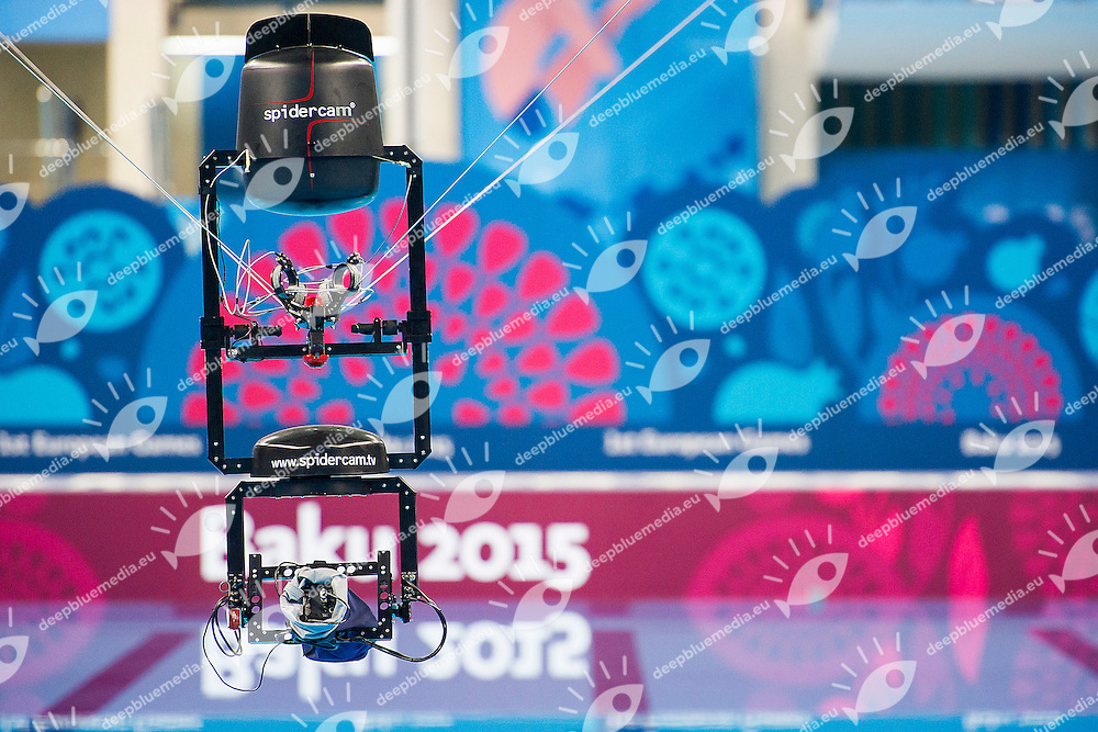 Spidercam<br /> Venues<br /> 1st European Olympic Games <br /> Baku Azerbaijan 12-28/08/2015<br /> Photo Andrea Masini/Deepbluemedia/Insidefoto