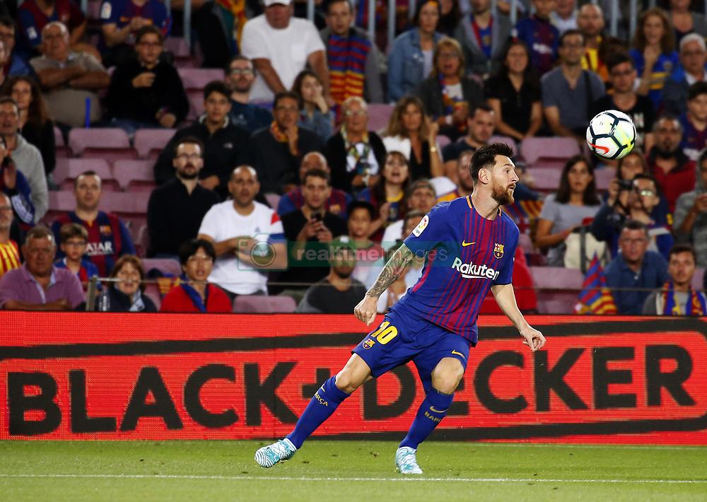 September 9, 2017 - Barcelona, Catalonia, Spain - Leo Messi during La Liga match between F.C. Barcelona v RCD Espanyol, in Barcelona, on September 09, 2017. (Credit Image: © Joan Valls/NurPhoto via ZUMA Press)