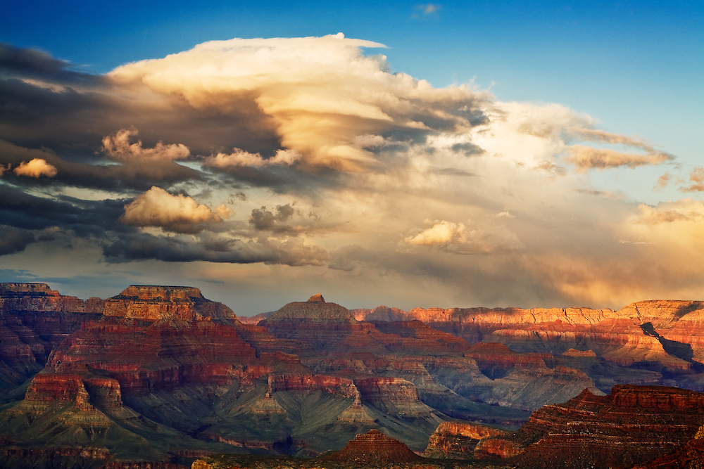 Sunset across Grand Canyon National Park.