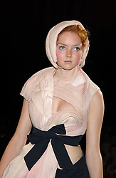 LILY COLE  at the 2005 Lancome Colour Design Awards in association with CLIC Sargent Cancer Care for Children held at the Freemasons' Hall, Great Queen Street, London on 23rd November 2005.<br />