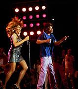 Mick Jagger and Tina Turner perform at Live Aid Philadelphia - 1985
