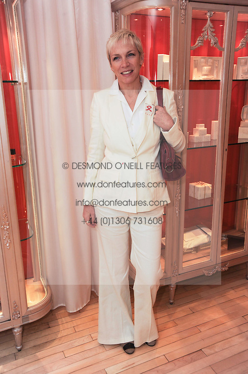 ANNIE LENNOX at a private dinner for the White Ribbon Alliance's Global Dinner Party Campaign, at Agua, Sanderson Hotel, Berners Street, London on 4th March 2010.