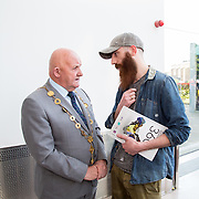 11.05. 2017.                                                 <br /> Over 20 leading Irish and international fashion media and influencers converged on Limerick for 24 hours on, Thursday, 11th May for a showcase of Limerick's fashion industry, culminating with Limerick School of Art & Design, LIT, presenting the LSAD 360° Fashion Show, sponsored by AIB.<br /> Pictured at the event were, Cllr. Kieran O'Hanlon, Mayor of Limerick City and County and Phillip Desmond, Student Union President. Picture: Alan Place